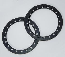 2 SSD RC 1.9 Blue Aluminum Beadlock Rings